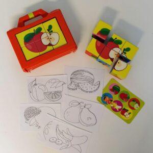 مکعب های تصویری میوه ها