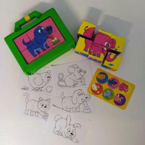 مکعبهای تصویری حیوانات