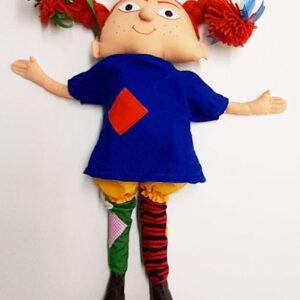 عروسک پارچه ای پی پی جوراب بلند